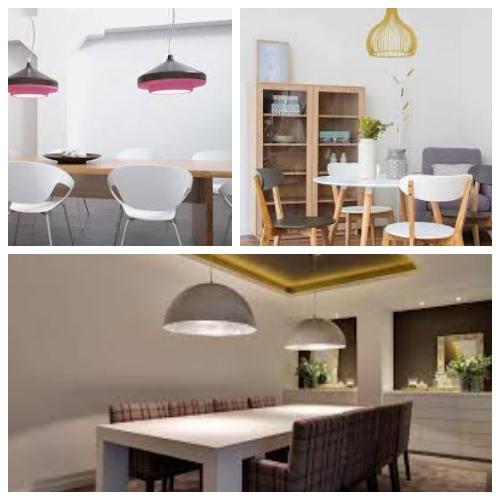 diferentes modelos de lamparas colgantes para iluminar el salon