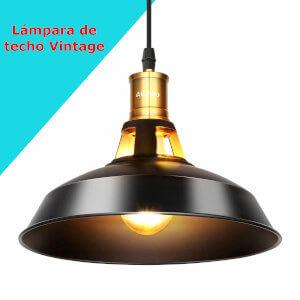 lampara de techo vintage con adornos dorados y negros