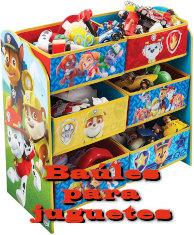 Baúl para juguetes de cars