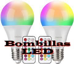 Bombillas led de las llamadas inteligentes por que cambian de color por wifi