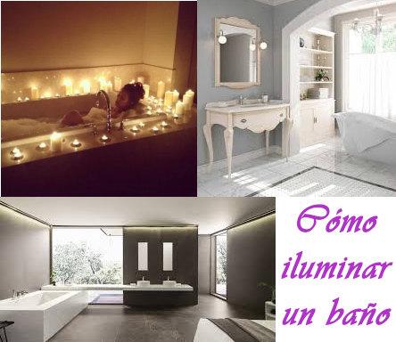 Distinto baños con dluminaciones diferentes, iluminación natural , con velas y con luces led