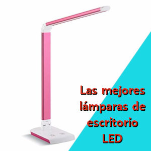 lampara-led-de-escritorio de color rosa.