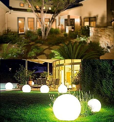 luces de presentación para jardín